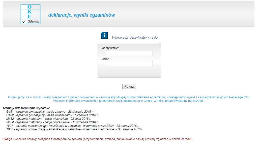 http://wyniki.oke.gda.pl/