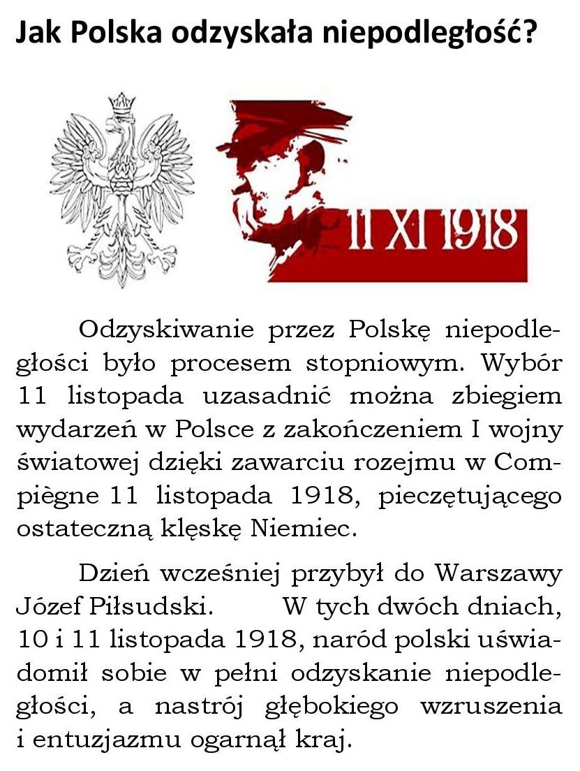 Jak Polska odzyskała niepodległość?